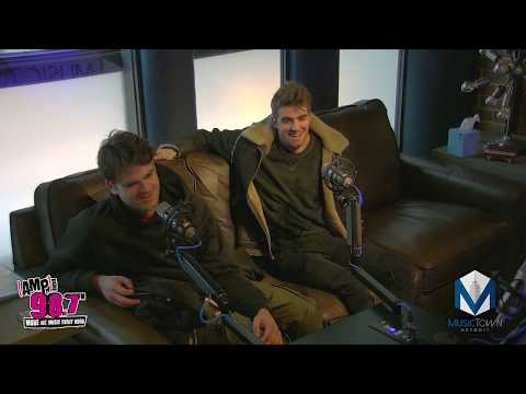 Chainsmokers live interview at MusicTown Detroit with 98.7 Amp Radio