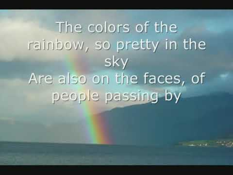 Somewhere Over the Rainbow  Israel Kamakawiwoole LYRICS