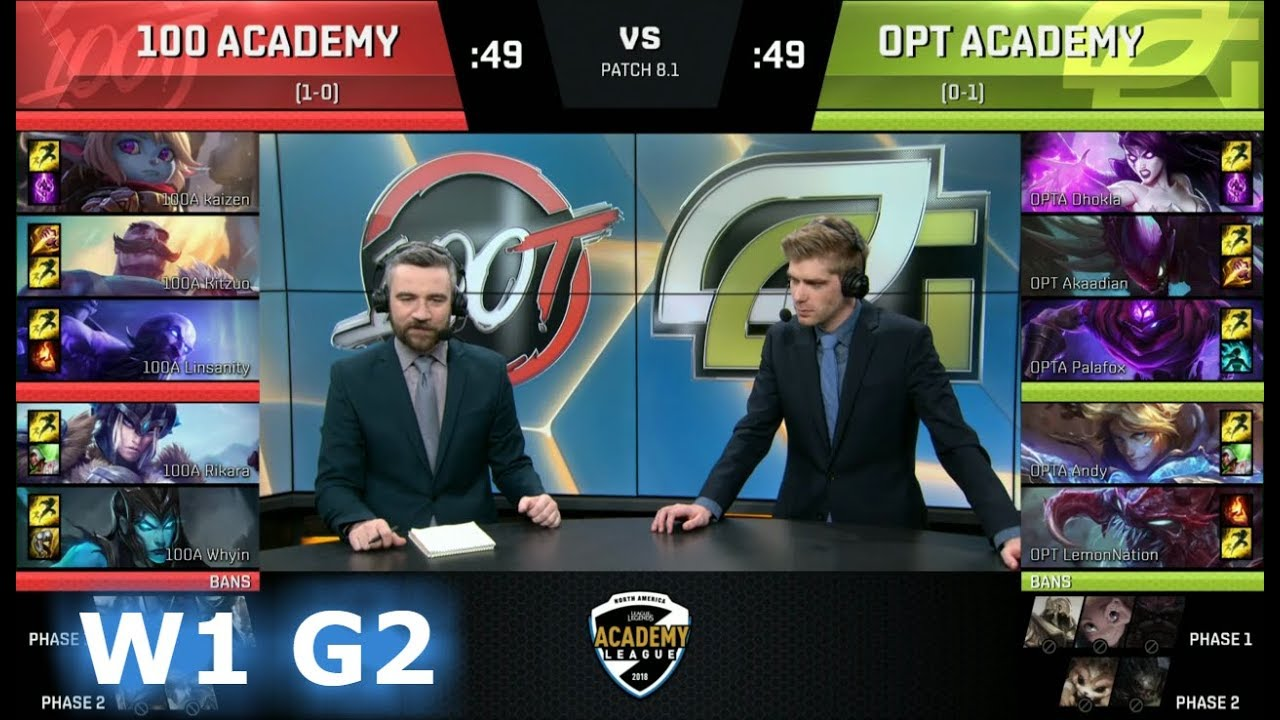 100 Thieves Academy vs OpTic Academy | Week 1 of S8 NA Academy League  Spring 2018 | 100A vs OPTA