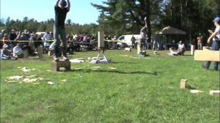 George Bean Memorial Lumberjack 2011 Collegiate Show & Chainsaw vs Crosscut.m4v