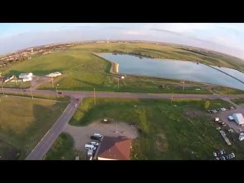 Eagle Butte, SD - Drone View of EB from West