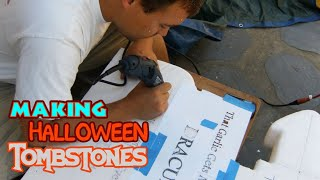 Diy Halloween Foam Tombstone Props & Decor For Your Cemetery Display