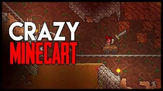 Crazy Minecart Cave! - Let's Play Vanilla Terraria - Gameplay : Part 4 (P