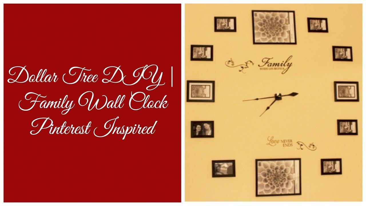 Dollar Tree DIY)Time Spent w/Family Worth Every Second   Photos Wall ...