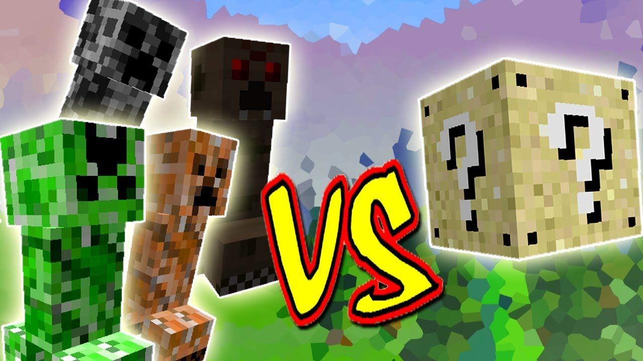 Creepers Especiais Com Habilidades Vs Lucky Block Minecraft