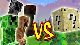 CREEPERS ESPECIAIS COM HABILIDADES VS. LUCKY BLOCK (MINECRAFT LUCKY BLOCK CHALLENGE ELEMENTAL)