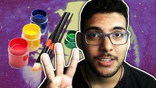 Pintando com tinta guache - Como pintar