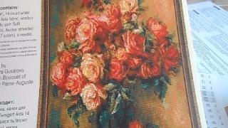 """Обзор набора для вышивки крестом:  """"Букет роз"""" Риолис"""