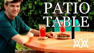 How to make a patio table. This outdoor table is easy to build! Thumbnail