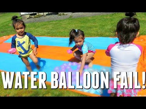 WATER BALLOON FAIL! - May 26, 2017 -  ItsJudysLife Vlogs