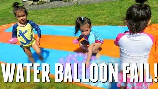 WATER BALLOON FAIL! - May 26, 2017 -  ItsJudysLife Vlogs