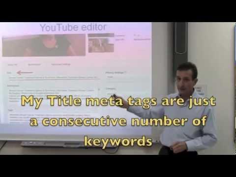 (Internet Marketing class) @ Yo San University- (7 Steps to Google