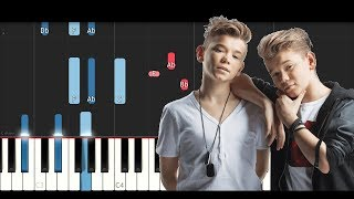 Marcus & Martinus - Never (Piano Tutorial)