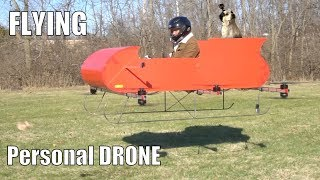 FLYING Personal Drone sleigh part 2!