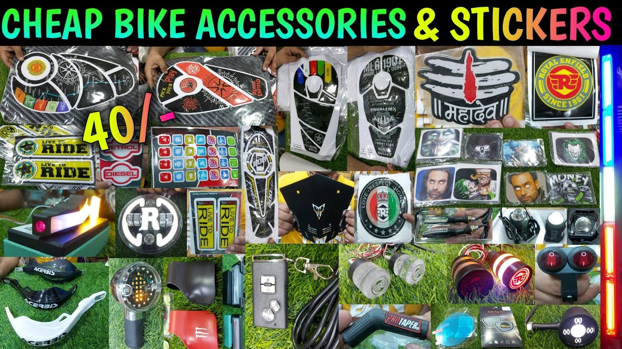 Cheap Bike Accessories & Stickers   Wholesale/Retail   All India Delivery #bikeaccessories #TopBikes
