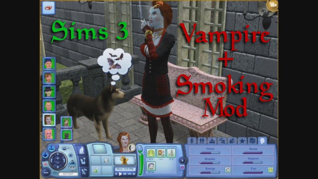 Sims 3 Supernatural Vampire  Smoking Mod  YouTube