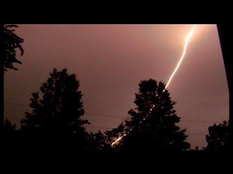 Amazing RED Lightning Strike!