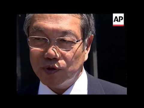 Tokyo delegates arrive at IOC to present 2016 Olympic bid