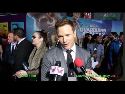 Chris Pratt at the Guardians of the Galaxy Vol 2 premiere