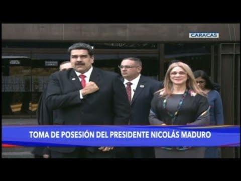 Le président Nicolas Maduro arrive pour sa prestation de serment
