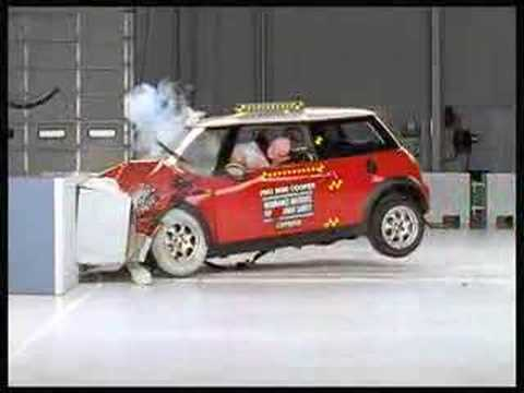 mini cooper crash test hsf youtube. Black Bedroom Furniture Sets. Home Design Ideas