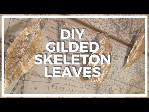 Gilded Skeleton Leaves ♥ DIY