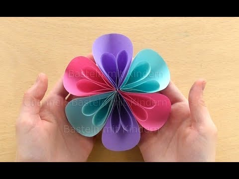 Basteln Mit Papier Blumen Falten Bastelideen Diy Geschenk Selber