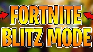 *NEW* GAMEMODE BLITZ LEAKED in Fortnite Battle Royale!