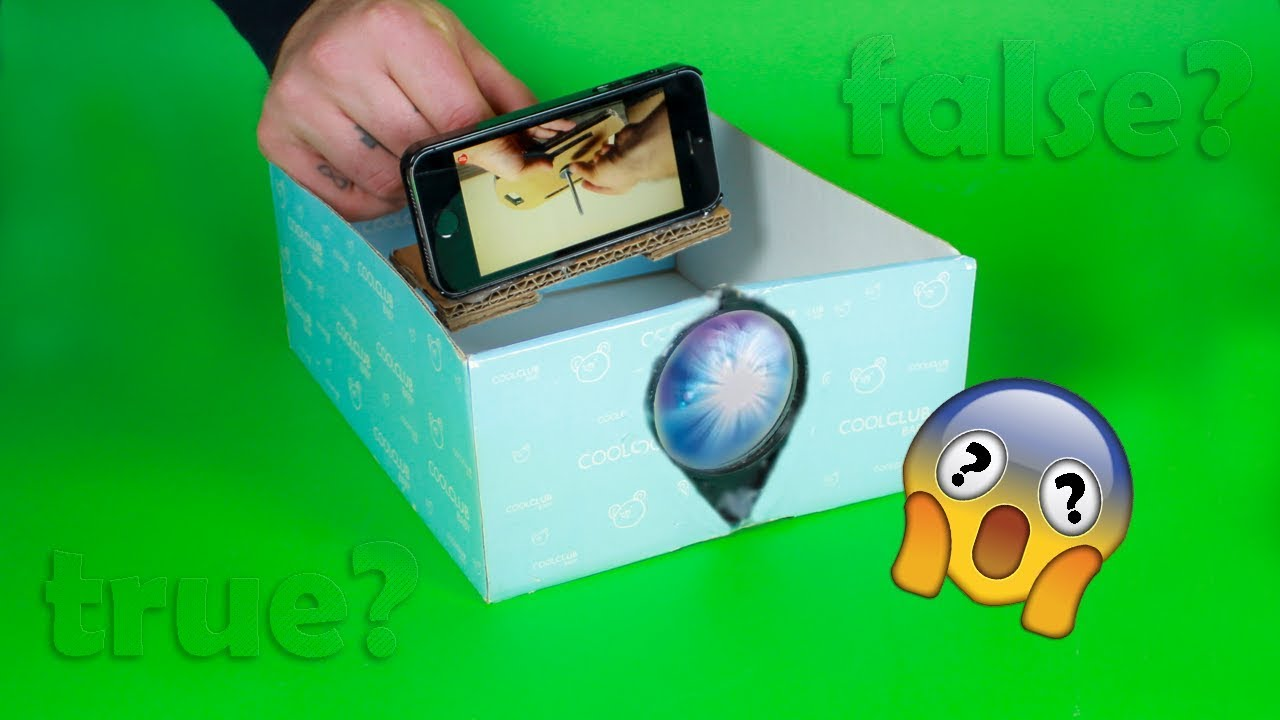 Diy Phone Projector With A Shoebox Does It Work Youtube