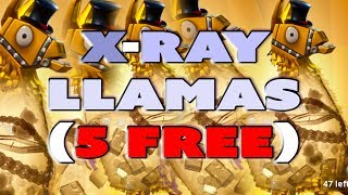 NEW X-Ray Llamas - 5 Free Llamas for all players - what is in the llama fortnite save the world