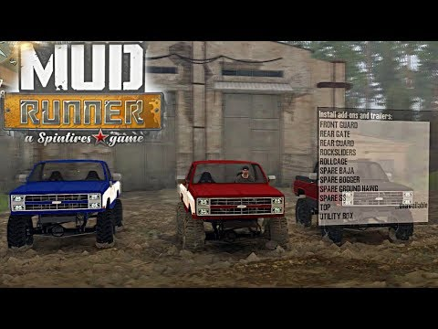 SpinTires Mud Runner: Mod Review - Chevy K5, Overland + Crawler, LOTS of Custom Options!