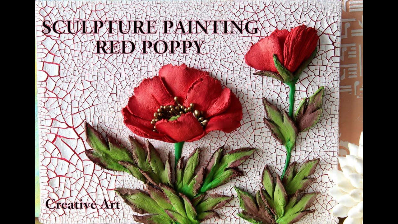 SCULPTURE PAINTING POPPY