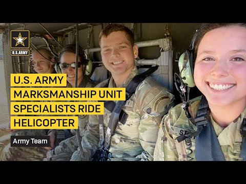 U.S. Army Marksmanship Unit Specialists Ride Helicopter