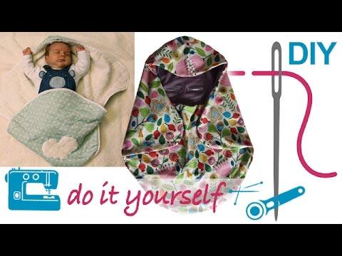 Maxi Cosy Decke, Decke für Babyschale selber nähen, \