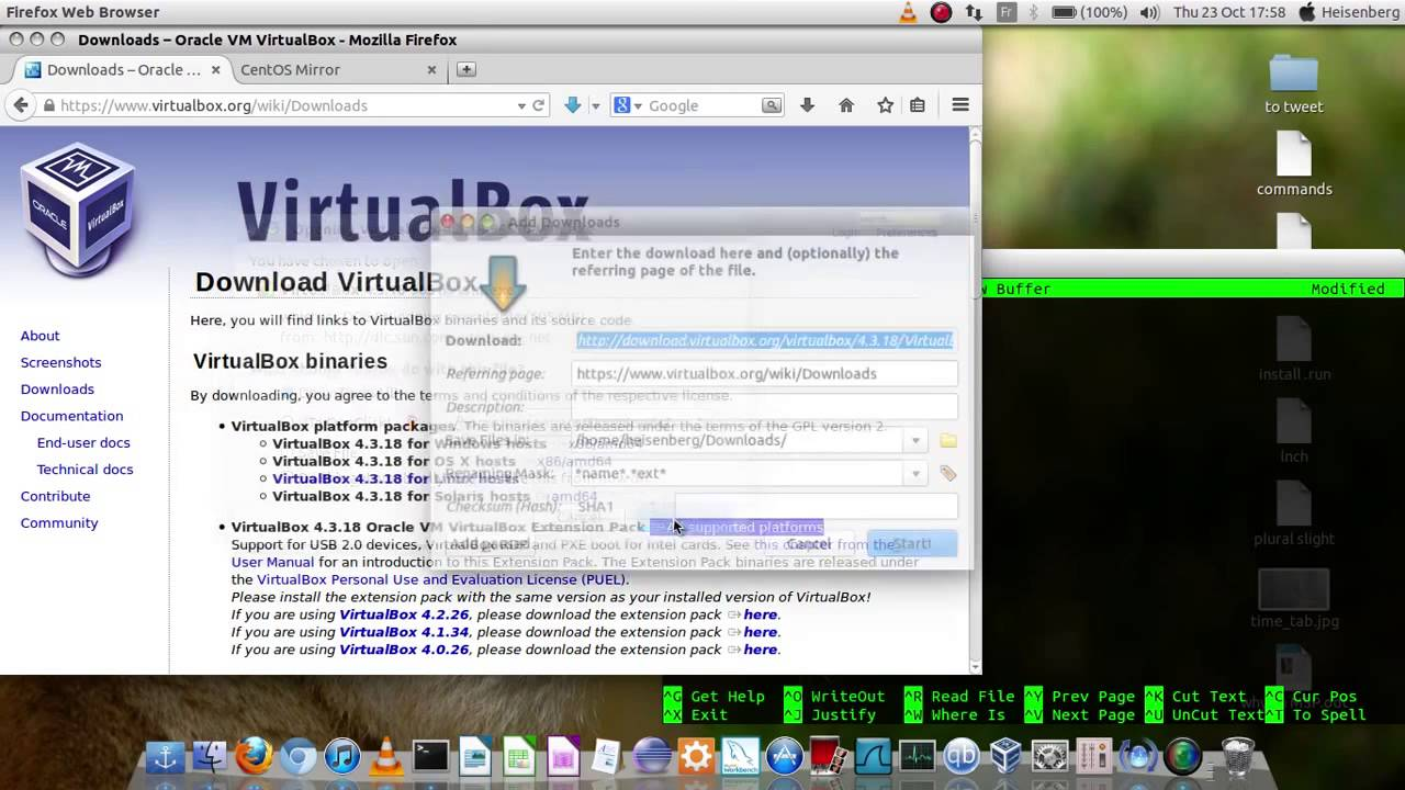 How to download and install VirtualBox and CentOs -- Part 1