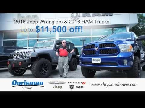 Summer Clearance At Ourisman Chrysler Dodge Jeep Ram Of Bowie