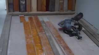 Man Cave Vintage Floor Board Install, Sand And Varnish. Part 2   Edging In Jarrah