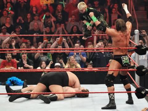 Raw: DX & Hornswoggle vs. John Heder, Big  & The Miz
