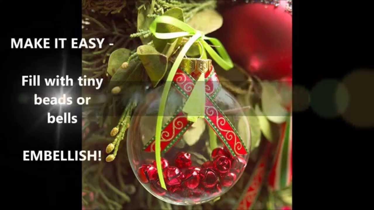 glass ball ornaments ideas youtube