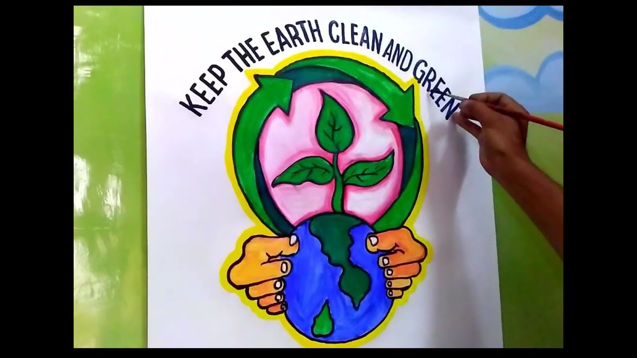 How To Draw Save Trees And Earth Environment Drawing For Kids