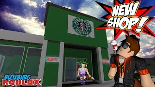 SPENDING THE DAY AT STARBUCKS w/ My Daughter in ROBLOX BLOXBURG