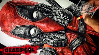 Desenhando o Deadpool | Drawing Deadpool (Speedart)
