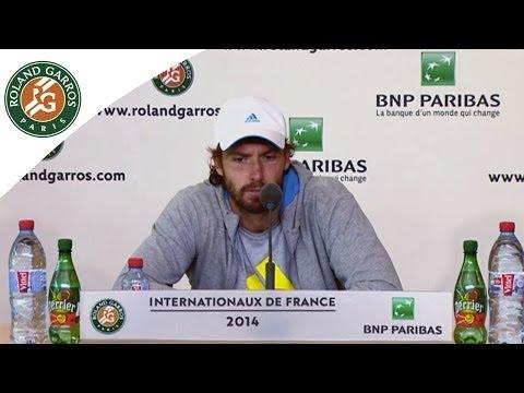 Conférence de presse Ernests Gulbis Roland Garros 2014 1/2