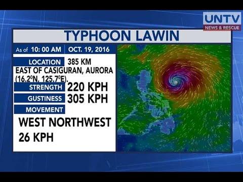 Bagyong 'Lawin', posibleng maging super typhoon bago tumama sa Cagayan  bukas - PAGASA