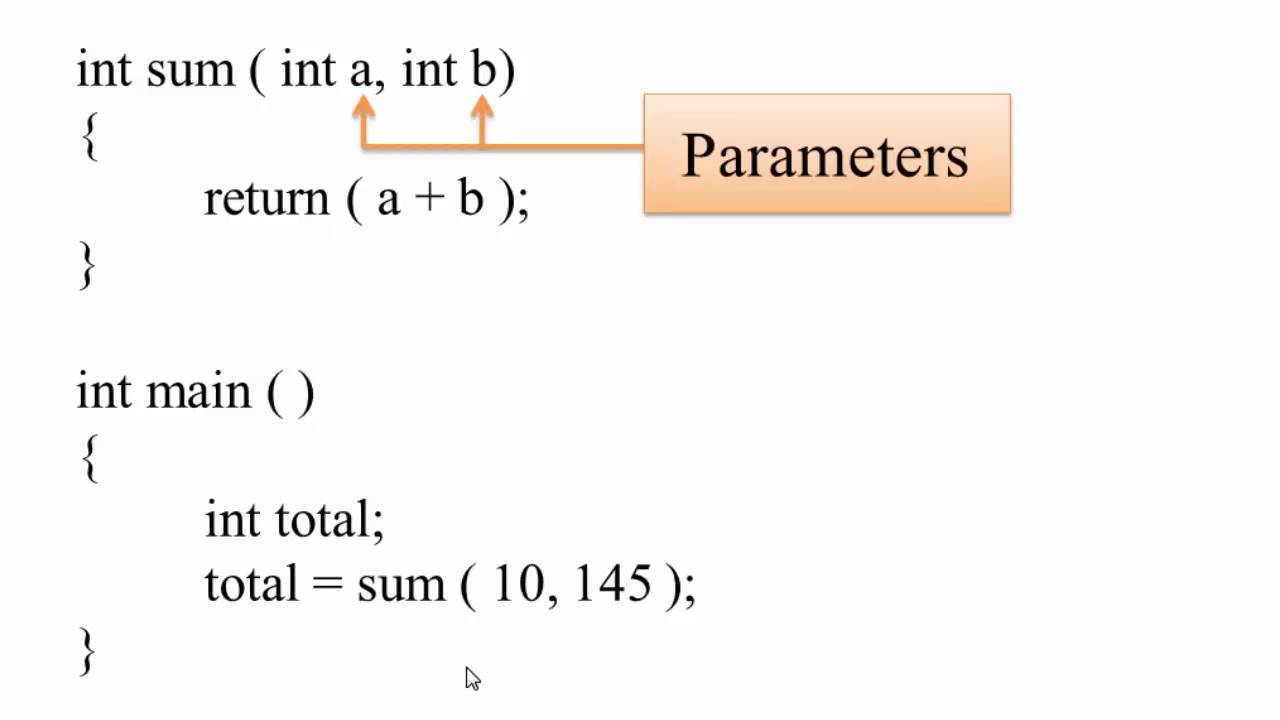 Parameter And Arguments In C Hindi