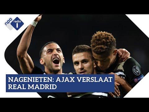 Ajax wint met 4-1 van Real Madrid: geniet na met het radioverslag! | NPO Radio 1