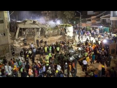 Powerful earthquake devastates central Mexico