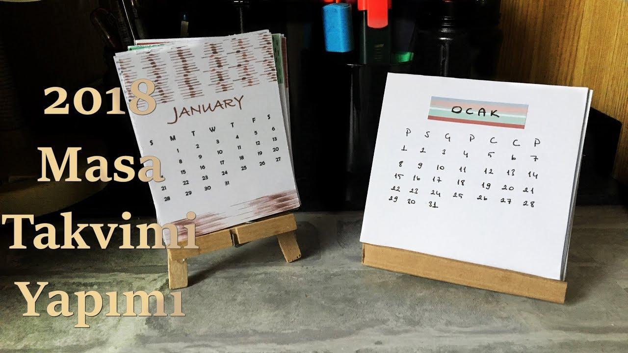 2018 Kolay Takvim Yapımı | DIY Calendar