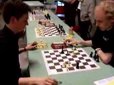 Jan Smeets en Daniel Stellwagen spelen snelschaak