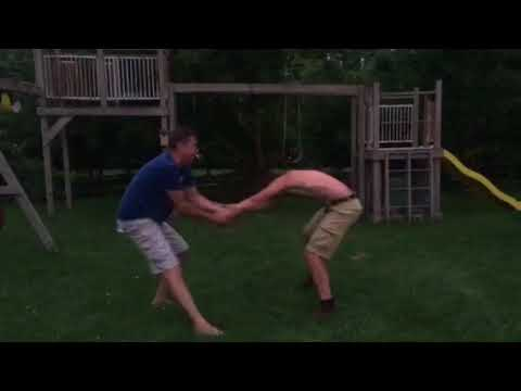 Chandler and Chase wrestle
